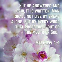 Matthew 4:4 KJV