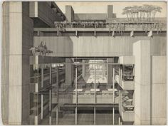 The Late Paul Rudolph. The Architect that has produced many of my favorite drawings.