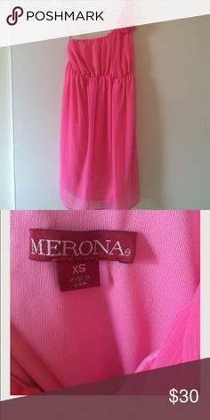 destin coach outlet 15w6  Pink one shoulder maternity dress
