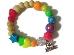 Christian Charm Bracelet, Girls Bracelet, I Love Jesus, Rainbow, Christian Jewelry, Christian Bracelet, Religious, Faith, Believer