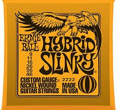 Ernie Ball 2222 Hybrid Slinky Nickel Wound Set Electric Guitar Strings 9  46 >>> Want to know more, click on the image.Note:It is affiliate link to Amazon. #Guitar