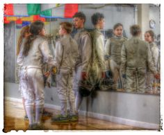Young fencers waiting