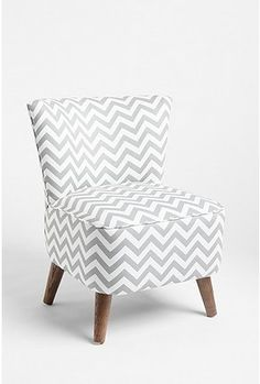 Gray chevron chair.