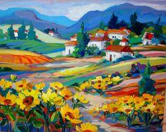 Isabel le Roux - Landscapes Gallery Colorful Paintings, Beautiful Paintings, Landscape Art Quilts, Landscape Paintings, South African Artists, Africa Art, Painting Gallery, Arte Popular, Oil Paintings