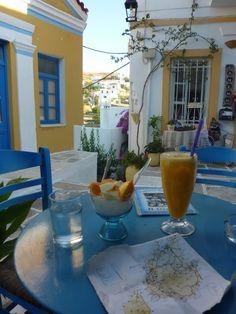 Breakfast in Paros Island, Greece.