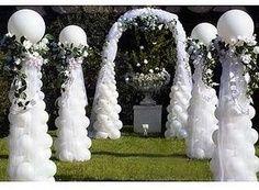 wedding balloon ideas, balloons, parties, arches, balloon decor,columns