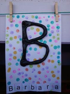 Preschool Writing, Kindergarten Literacy, School Id, Art School, Letter Activities, Activities For Kids, Name Crafts, Notebook Covers, Mothers Day Crafts