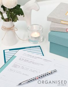 An Organised Life: Goals // Setting goals is so important because it breaks down dreams that once seemed out of reach, into manageable steps. The Goals Book is broken down into different sections such as your career, health and finance. Click and read about our Weekly Goals task on our blog.