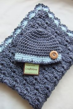 Baby Boy Shower Gift Set Baby Boy Blanket Denim by craftolove @Evelyn Siqueira Siqueira Cheek