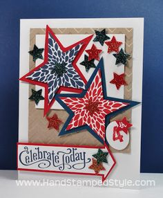 Stampin' Up! Besty's Blossom Independence Card by Hand Stamped Style