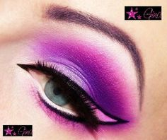 beautylish: Ines K. creates a vibrant pink and purple winged eye look!