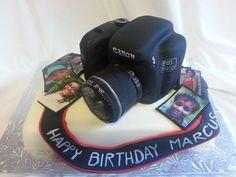 My 1st Canon camera cake for my camera man... Happy birthday Marcus (2012)    Contact Tina: TLCThemeCakes@gmail.com