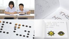 Libro http://www.gizmodo.com.au/2013/08/a-hybrid-braille-font-lets-visually-impaired-kids-read-any-book/