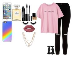 """Sem título #1498"" by toranja ❤ liked on Polyvore featuring New Look, MANGO, Yves Saint Laurent, AT&T, Butter London, Lime Crime, Chanel, Stila, Edward Bess and Casetify"