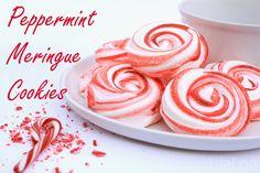 Peppermint Meringue Cookies inkatrinaskitchen.com from LilaLoa #BringtheCOOKIES