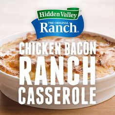 All of your go-to ingredients in one dish - Chicken Bacon Ranch Casserole. Tap the pin for the recipe. Chicken Bacon Ranch Casserole, Hamburger Casserole, Keto Casserole, Cheesy Chicken, Keto Chicken, Buffalo Chicken, Grilled Chicken, Low Carb Recipes, Cooking Recipes