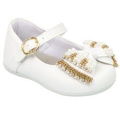 9078903288 Sapatilha Infantil Feminina Klin Cravinho Princess com Laço em Pedras