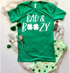 26aa65e55 Etsy St. Patricks Day Shirt Women, Bad and Boozy, Let's Get Ready to