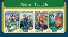 ST16415a Nelson Mandela (Nelson Mandela (1918–2013)) Nelson Mandela, Stamps, Baseball Cards, History, Seals, Postage Stamps