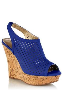 Cato Fashions Perforated Square Sling Wedges #CatoFashions. Got these in teal