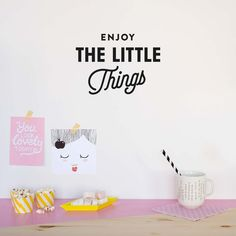Enjoy the little things - Wall Decal by MADE OF SUNDAYS