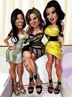 Kourtney, Khloe, & Kim Kardashian (by salnavarro)