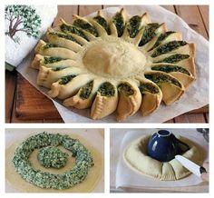 Torta de ricota com espinafre #food #eat