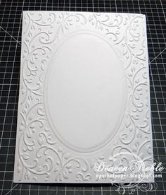 Picture Tutorial - How to Partial Emboss Cards to Make Frames using Embossing Folders and How to Emboss using Metal Dies