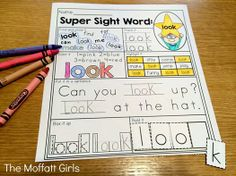 SIGHT WORD pages! I LOVE that there are 7 different ways to practice each sight word!