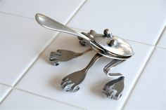 frog made from spoons and forks   Welded Spoon and Fork Frog by…