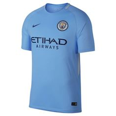 Nike Manchester City  Soccer Jersey (Home 17/18): http://www.soccerevolution.com/store/products/NIK_41102_A.php