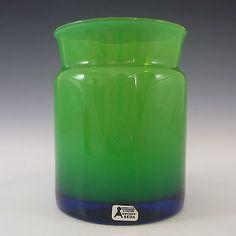 Aseda-Swedish-Green-Cased-Glass-Vase-9-321-Labelled