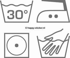 Wassymbolen muursticker set (NIEUW)