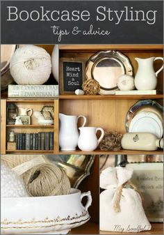 Bookcase Styling for Spring http://mysoulfulhome.com/bookcase-styling-for-spring/ via bHome https://bhome.us