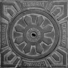 Manhole Cover Carcassonne by mgkpictures Street Photography #InfluentialLime