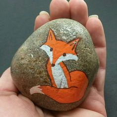 Check out this item in my Etsy shop https://www.etsy.com/listing/498338455/painted-stoe-rock-paperweight-fox-image
