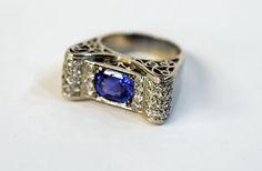 Very retro! #sapphire #diamond #retro