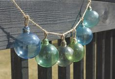 sea fishing glass float garland