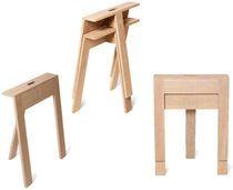 Pied de table contemporain / en bois