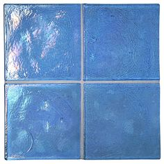 """Complete Tile Collection TrueGlass Tile - Baltic Blue - Pearl, 4"""" x 4"""" Recycled Glass Tile, MI#: 038-G1-261-203, Color: Baltic Blue"""