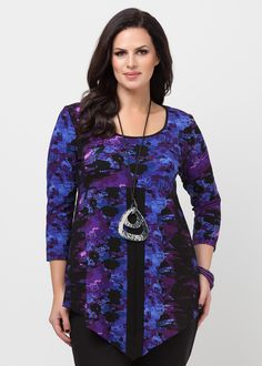 Big Sizes Womens Clothing   Clothes for Larger Size Women - SMUDGE TUNIC - TS14
