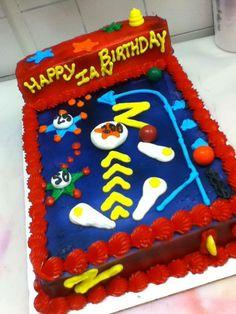 Kids pinball machine Birthday Cake