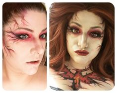 It never ceases to amaze me how finishing details can transform the finished product. Lipstick lashes contacts and wigs -- MAGIC! #makeup #cosplaymakeup #makeupismagic #cosplay #chameleon #jeangrey #jeangreycosplay #phoenix #jeangreyphoenix #marvelcosplay #xmen #xmencosplay #mehron #bodypaint #dermablend #gothiclolitawigs #rockstarwigs