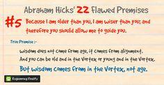 Abraham Hicks' 22 Flawed Premises and Their True Premises