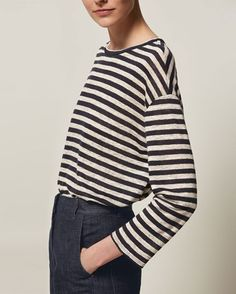Women's Stripe Linen Easy Tee