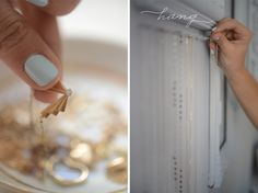 hang delicate necklaces with penny nails so they dont get tangled