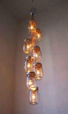 Ein Licht in der Finsternis…….9 rustikale und originelle DIY Lampen- und Kerzenhalter - DIY Bastelideen