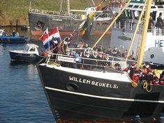 17 november 2012, de Sint komt aan in IJmuiden