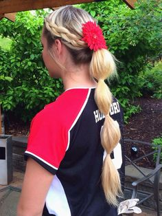Softball Hair Softball Hairstyles Softball Hair Ideas Sporty - pretty hairstyles for sports pretty hairstyles to do on yourself Softball Hair Braids, Athletic Hairstyles, Volleyball Hairstyles, Sporty Hairstyles, Cool Hairstyles, Hairstyles Videos, Wedding Hairstyles, Princess Hairstyles, Hairstyles Haircuts