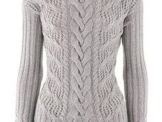 Стильный пуловер спицами Как вязать свитер с косами. Описание и схемы. Размеры: 38/40 (46/48)Вам потребуется: 450 (550) г пряжи цвета мяты Ambiente Lana Grossa (85% хлопка, 15% кашемира, 125 м/50 г…